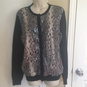 NWT Jones NY sequined cardigan